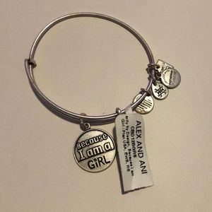 "Alex and Ani bracelet - ""Because I am a Girl"""